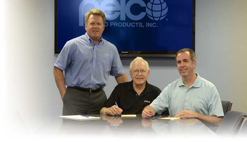 Pelco Products principles image of Steve Parduhn, Phil Parduhn, and Jeff Parduhn